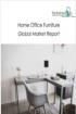 전세계 홈 오피스 가구 시장 전망, 2021